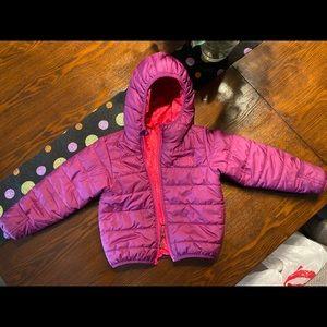 North Face puffy jacket. Reversible. Virtua New.